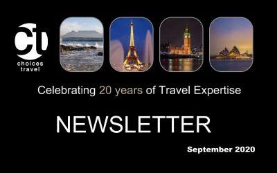 September 2020 Newsletter for Travelers